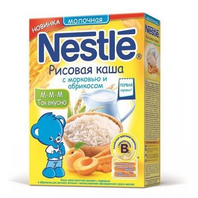 Каша молочная Nestle рисовая с морковью и абрикосом с 5 мес. 250 гр