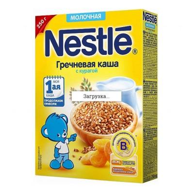 Каша молочная Nestle гречневая с курагой 250 гр с 5 мес