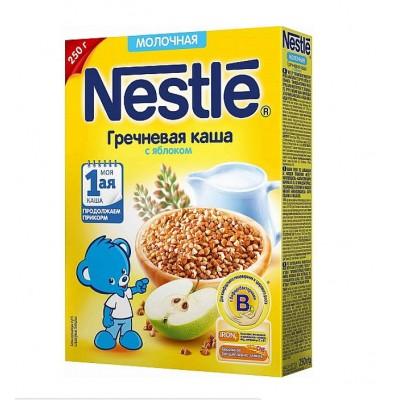 Каша молочная Nestle гречневая с яблоком  250 гр с 5 мес