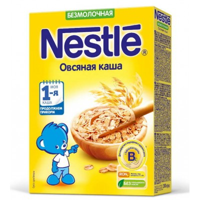 (Упак 9шт х 200гр) Каша Nestle овсяная безмолочная