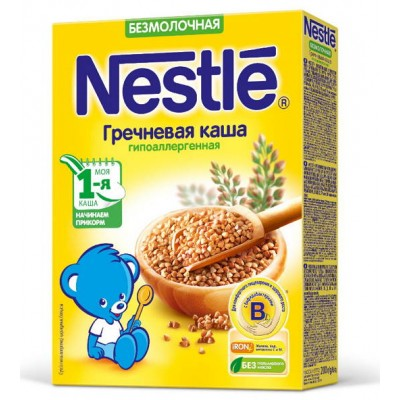 (Упак 9штх200гр) Каша Nestle гречневая  безмолочная гипоалергенная