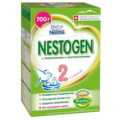 Заменитель молока Нестожен 2 Prebio с 6 мес, 700 гр