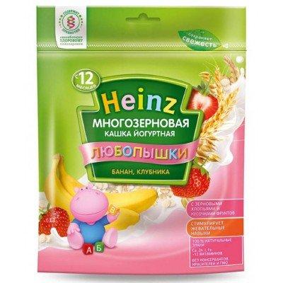 Каша Heinz йогуртная многозерновая банан, клубника c 12 мес, 200 гр
