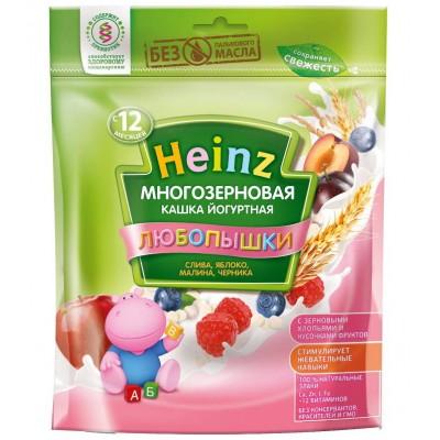 Каша Heinz йогуртовая многозерновая с малиной и черникой с 12 мес, 200 гр