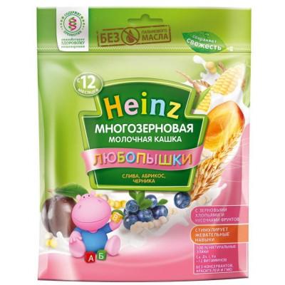 Каша Heinz молочная многозерновая слива-абрикос-черника с 12 мес, 200 гр