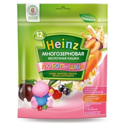 Каша Heinz молочная многозерновая слива-морковь-вишня-черная смородина с 12 мес