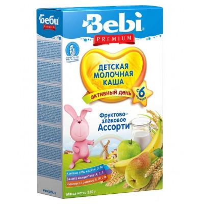 Каша Bebi Premium фруктово-злаковое ассорти молочная, с 6мес., 250гр.