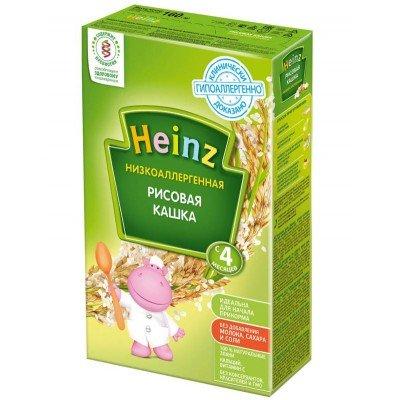 Кашка Хайнц Низкоаллергенная рисовая, с 4 мес., 160г картон