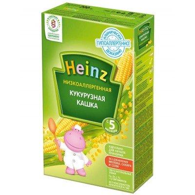 Кашка Хайнц Низкоаллергенная кукурузная, с 5 мес., 200г картон