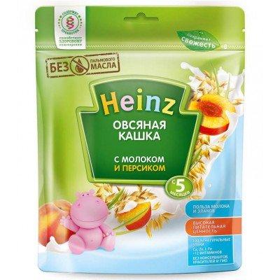 Каша Heinz молочная овсяная с персиком 250 гр с 5 мес