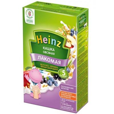 Лакомая кашка Heinz молочная овсяная яблоко-черника-черная смородина c 5 мес, 200 гр