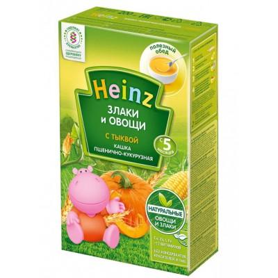 Каша Heinz безмолочная пшенично-кукурузная с тыквой с 5 мес, 200 гр