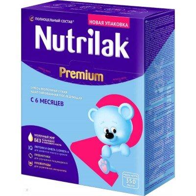 Молочная смесь Nutrilak Premium 2, с 6 мес, 350 гр