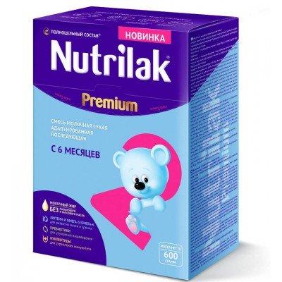 Молочная смесь Nutrilak Premium 2, с 6 мес, 600 гр