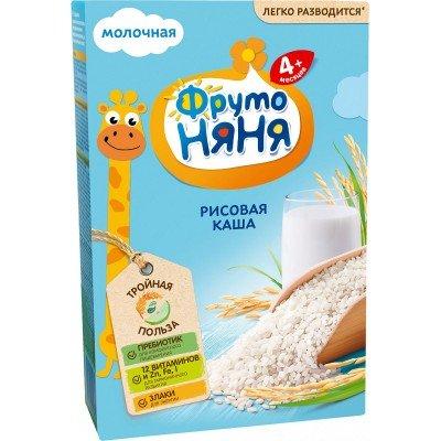 Каша молочная ФрутоНяня рисовая с 4 мес. 200 гр