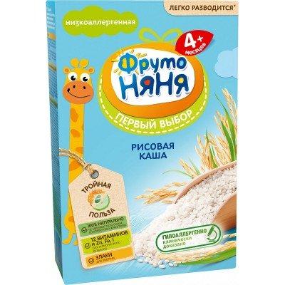 Каша безмолочная ФрутоНяня рисовая с 4 мес. 200 гр