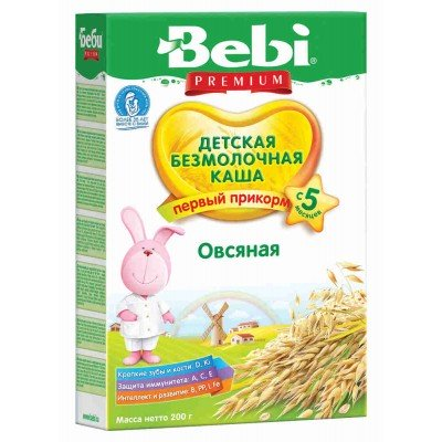 Каша безмолочная Bebi Premium овсяная с 5 мес. 200 гр