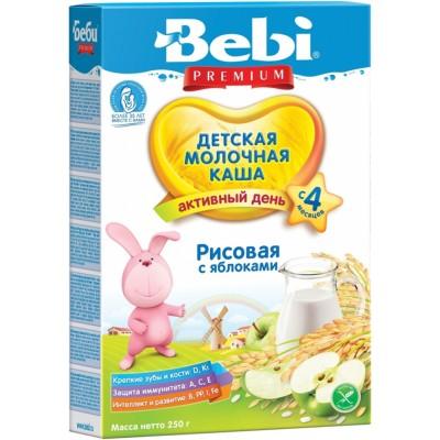 Каша молочная Bebi Premium рисовая с яблоком с 4 мес. 250 гр