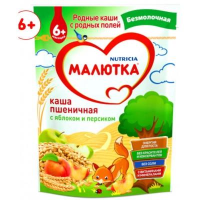 Каша безмолочная Малютка пшеничная с яблоком и персиком с 6 мес. 200 гр