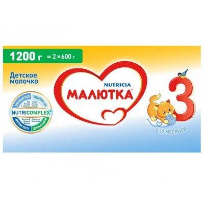 Молочная смесь Малютка 3, с 12 мес, 1200 гр