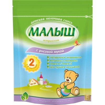 Молочная смесь Малыш Истринский 2 с рисовой мукой с 6 мес. 350 гр