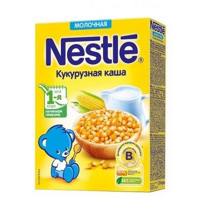(Упак 9шт х 220гр) Каша молочная Nestle кукурузная с 5 мес. 220 г