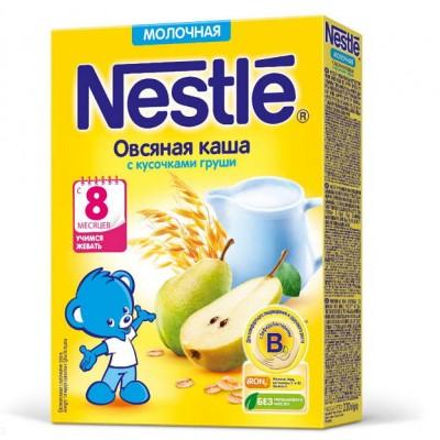 Каша Nestle молочная овсяная с кусочками груши 220 г