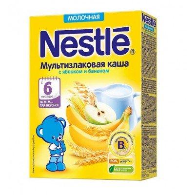 Каша молочная Nestle мультизлаковая с яблоком и бананом 6 мес. 220 гр