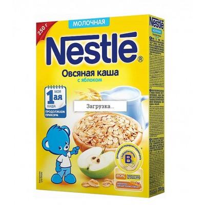 Каша молочная Nestle овсяная с яблоком 250 гр с 5 мес
