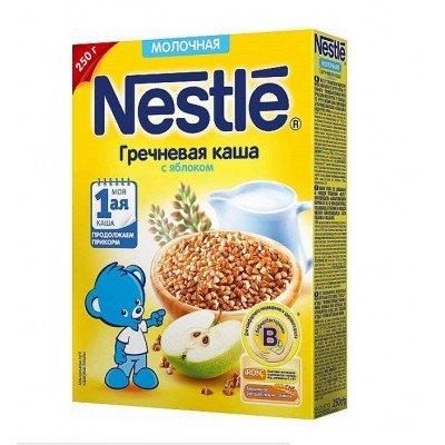 (Упак 9шт х 220гр) Каша молочная Nestle гречневая с яблоком