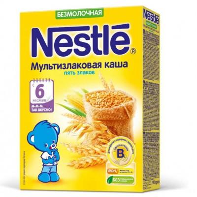 (Упак 9штх200гр) Каша Nestle безмолочная мультизлаковая, 5 злаков