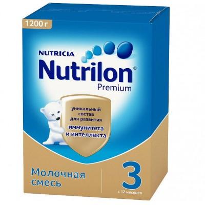 """Сухая молочная смесь """"Нутрилон Premium"""" -3, 1200 гр/ 6 уп"""