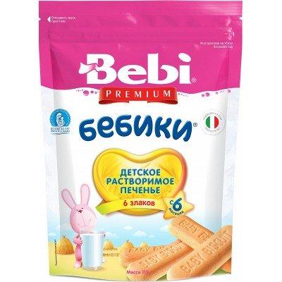 Печенье Bebi Premium «Бебики» 6 злаков с 6 мес. 115 гр
