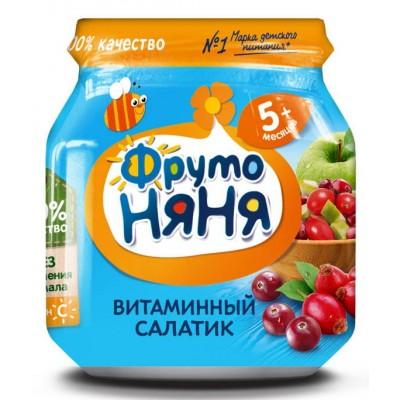 (Упак 12х100гр) Пюре ФрутоНяня «Витаминный салатик» с 5 мес