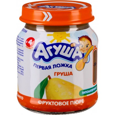Пюре Агуша Груша, упак 12х115 гр