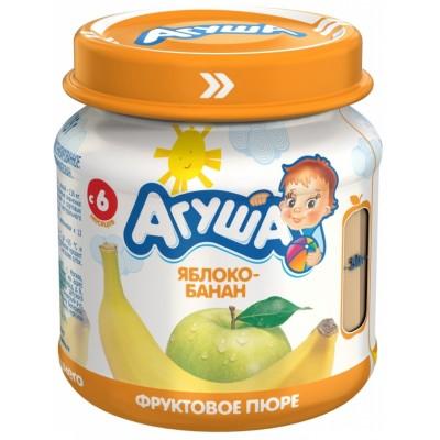 Пюре Агуша Яблоко-банан, упак 12х115 гр