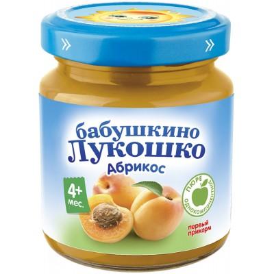 (Упак 6х100гр) Пюре Бабушкино Лукошко Абрикос с 4 мес