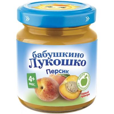 (Упак 6х100гр) Пюре Бабушкино Лукошко Персик с 4 мес
