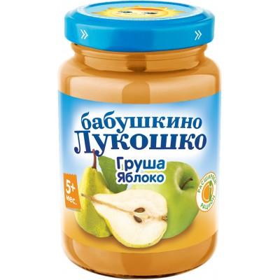 (Упак 6х200гр) Пюре Бабушкино Лукошко Груша-яблоко с 5 мес