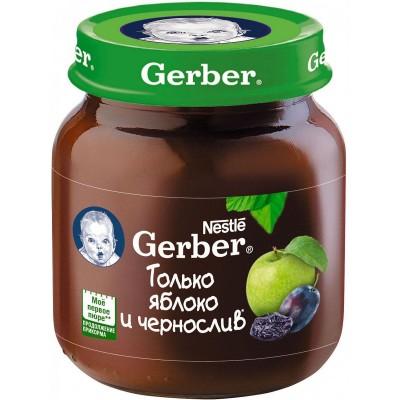 (Упак 12х130гр) Пюре Gerber Яблоко и чернослив