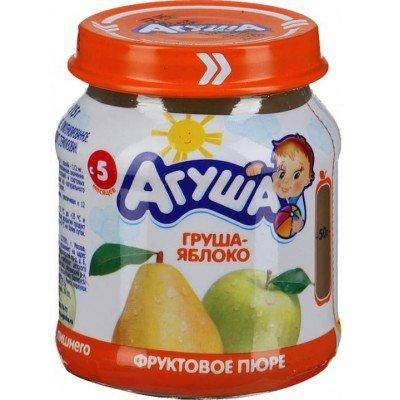 Пюре Агуша Груша-яблоко, упак 12х115 гр