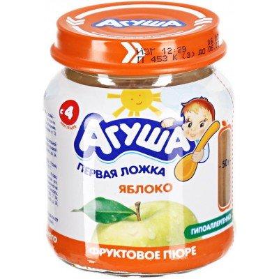 Пюре Агуша Яблоко, упак 12х115 гр