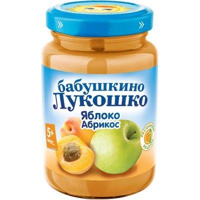 (Упак 6х200гр) Пюре Бабушкино лукошко Яблоко-абрикос с 5 мес