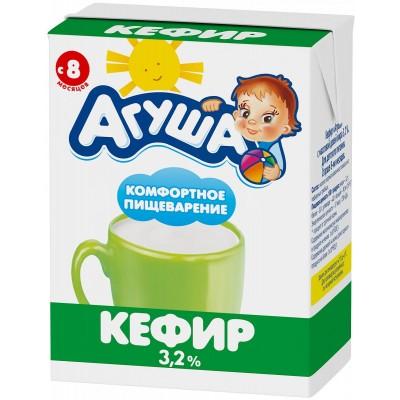 (Упак 12х200мл) Кефир Агуша 3,2% с 8 месяцев