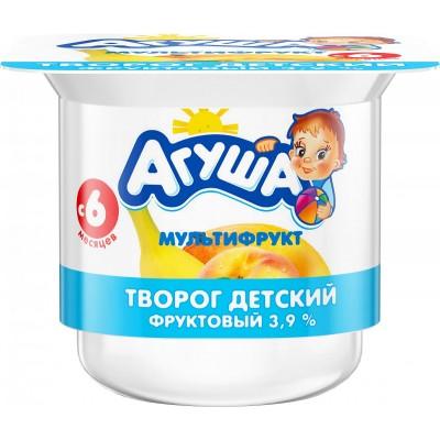 (Упак 6х100гр) Творог Агуша Мультифрукт 3,9% с 6 мес