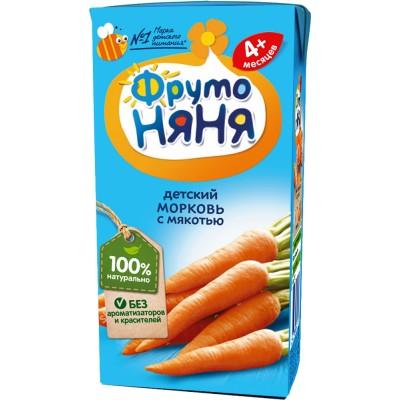 Нектар ФрутоНяня Морковь с мякотью, упак 27х200 мл