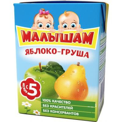 (Упак 27х0,2л) Нектар ФрутоНяня Малышам Яблоко и груша с 5 мес. 200 мл