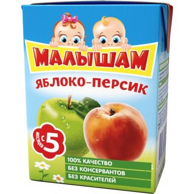 (Упак 27х0,2л) Нектар ФрутоНяня Малышам Яблоко и персик с 5 мес. 200 мл