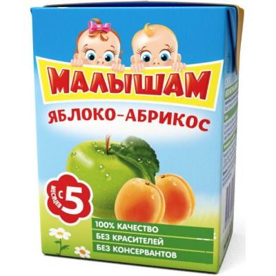 (Упак 27х0,2л) Нектар ФрутоНяня Малышам яблоко-абрикос неосветленный с 5 мес. 200 мл.