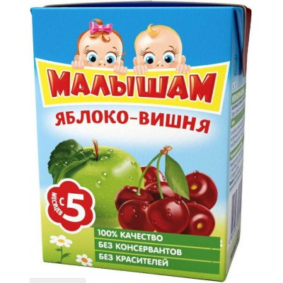 (Упак 27х0,2л) Нектар ФрутоНяня Малышам яблоко-вишня 0.2л с 5 месяцев